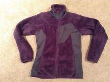 Columbia Monkey Fur Fuzzy Purple/Gray Fuzzy Fleece Jacket Women's Small EUC