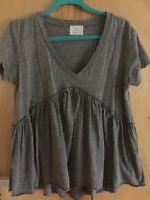 ANTHROPLOGIE t.la Gray Knit Baby Doll Tunic 28 In Long -Size Medium Lightly Worn