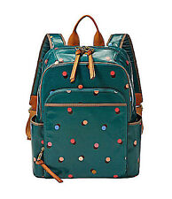 NWT Fossil Key-Per Backpack Peacock Blue with Brass-Tone Hardware ZB5994407