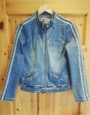 Denim biker jacket