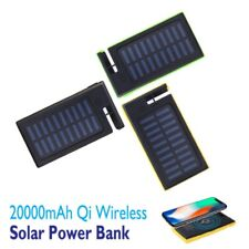 20000mAh Waterproof Solar Power Bank 2USB Battery Portable Charger For Mobile US