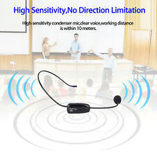 Black Portable 2.4G Mini Wireless Microphone Headset MIC & 3.5mm Plug+Receiver