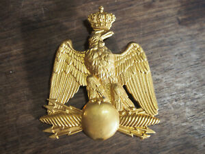 PLAQUE DE SHAKO à l'aigle  Officier   II EMPIRE