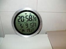 Digitale Wanduhr von Sempre Funk Baduhr Zeit und Temperatur Anzeige