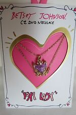 Betsey Johnson Gifting Fierce Foxy Lady Two Row Necklace New On Card 60% OFF
