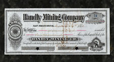 1878 BODIE CALIFORNIA Handly Mining Company Stock Certificate MONO CO Ghost Town