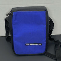 Nintendo Gameboy Advance SP Carry Case Organizer Bag - Blue - CLEANED!