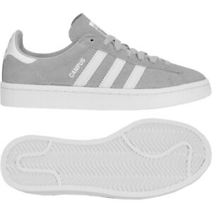 adidas Campus Sneaker Leder Schuhe Jungen Mädchen Damen Gazelle grau/weiß EUR 36