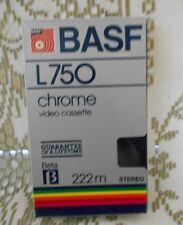 Vintage BASF L750 Chrome Video Cassette Blank Beta Tape