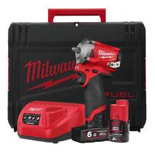 Milwaukee M12FIW38-622X 12V 3/8in Impact Wrench Kit Con Batterie & Custodia