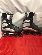 Mission Youth Helium 500 Roller Hockey Skates Youth Size 3E In-line Euc
