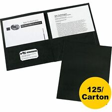 Avery 2-Pocket Folder Letter-size 20Sh/Pocket 125/Ct Black 47988Ct