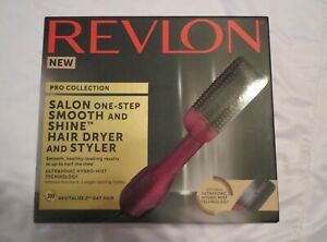 REVLON Pro Collection Salon One-Step Smooth & Shine Hair Dryer Styler Hydro-Mist