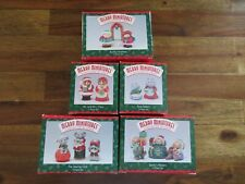 Hallmark Merry Miniatures Lot of 5 Boxed Christmas 1996 includes The Sewing Club