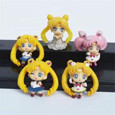 1pc Anime Sailor Moon Tsukino Usagi Plastic Action Figures Toy Mini Model Decor