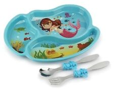Mermaid Divided Plate With Fork/spoon