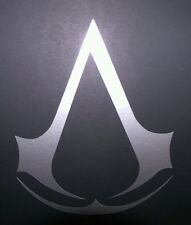 Assassins Creed Vinyl Sticker SILVER GLOSS 8 x 6.5 cm