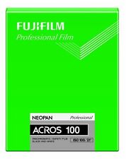 Fujilm Neopan 100 Acros B/W nega 4x5 lm 20 sheets F/S with number tracking