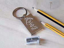 Personalised Drawing & Handwriting Engraved Teacher Thank you keyring - Gift