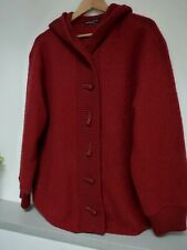 GORGEOUS DEANE & WHITE RED HOODED WARM TOGGLE CARDIGAN SIZE 18/20, VGC