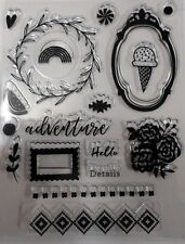 Clear Stamps x 18  *ADVENTURE* Scrapbooking - Cardmaking - Papercrafts