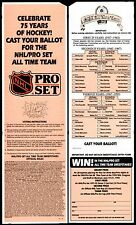 1992 NHL ALL-TIME ALL-STAR HOCKEY TEAM~FAN BALLOT of GREATEST PLAYERS in HISTORY