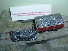 OO imitation Ash load X 2 for Hornby 16 ton mineral wagon size