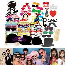 Wedding Props On A Stick Mustache Photo Booth Halloween/Christmas Party Birthday