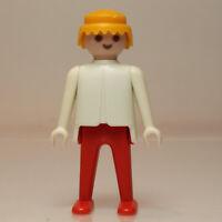 Playmobil joven hombre vintage rojo y blanco mano fija Klicky 1974 Figura p228