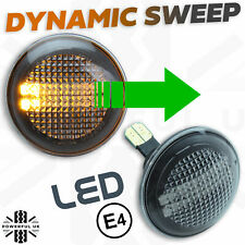 Dynamic sweep LED Clear Side Repeaters front wing Indicators for RangeRover L322