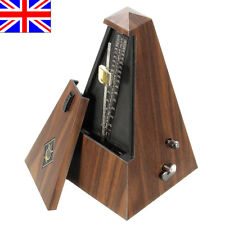 Vintage Metronome Teak Mechanical Music Timer Instrument For Piano Guitar Violin