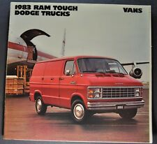 1983 Dodge Van Truck Brochure Ram Van Maxivan B-150 B-250 Excellent Original 83