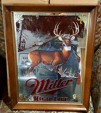"Miller Beer Mirror Wildlife Series ""Big Buck"" 1St Printing New Wisconsin"
