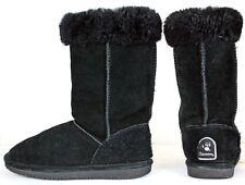 BEARPAW Womens Marissa Boots size 7 Black Suede Winter PB FW331