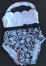 NWT Janie And Jack Protective Swimsuit 3-6 Months One Piece Black And White