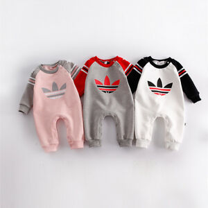 Baby Newborn Boy Girl Winter Wool Thicken Romper Toddler Infant Warm Outfit Set