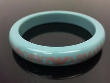 Auth EMPORIO ARMANI Plastic Bangle Bracelets Size 2.5 Inches Green 7i280180n