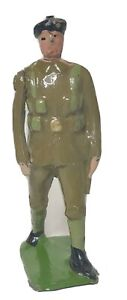 Antique Britains Toy Soldier Pre WW2 Royal Tank Corps Officer Green Belt