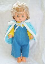 Vintage 70/80 poupée poupon blond yeux bleus dormeurs 50cm,tenue d'origine tbé