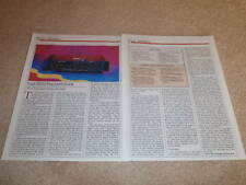 SAE P102 Preamp Review,2 pgs, FULL TEST, RARE, Specs
