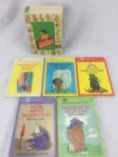 Vintage Paddington Bear 5 Book Set 1977 Hilarious Adventures of Paddington
