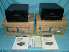 PAIR of DENON POA-4400 Monaural Power Amplifiers Mono Amps w/ Orig Boxes, Manual