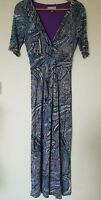 Per Una Retro Print Maxi Stretchy Dress Size 12