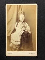 Victorian Carte De Visite CDV: Lady: Heath: Plymouth: Unusual Studio Optician