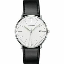 Junghans 041/4817.00 Max Bill 38mm Case Quartz Leather Strap Watch