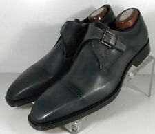 242061 SPi60 Mens Shoes Size 9 M Dark Gray Leather Made in Italy Johnston Murphy