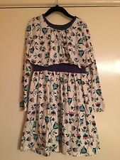 TEA COLLECTION Girls Long Sleeve Floral EUC Dress Size 7 🌹