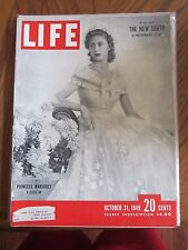 Life Magazine Princess Margaret A Close Up October 1949