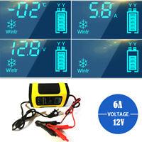 12V 4-100Ah LCD Car ATV Motorcycle Pulse Repair Battery Charger AGM Automatic 6A
