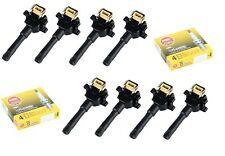 Ignition Coil Set (8) + (8) Bosch Platinum Spark Plugs for BMW